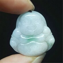 Phật Di Lặc Đá Cẩm Thạch Tự Nhiên Mặt Dây Chuyền