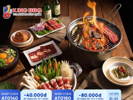 King BBQ Giảng Võ - Đẳng Cấp Ẩm Thực Hàn Quốc Buffet Nướng Menu 279K