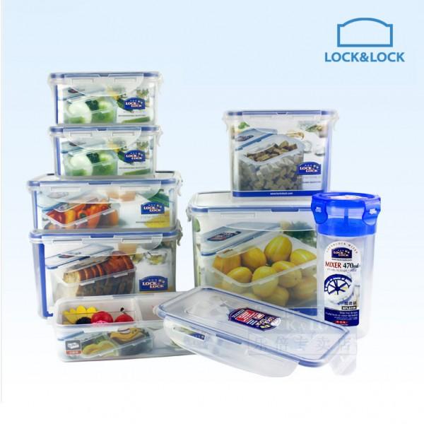 Bộ 7 hộp bảo quàn thực phẩm Lock&lock Classic HPL827S002 Tặng kèm Bình Mixer 470ml