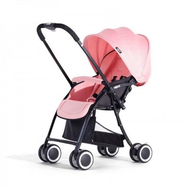 Xe đẩy em bé Vovo 2 chiều 3 tư thế siêu nhẹ - Hồng