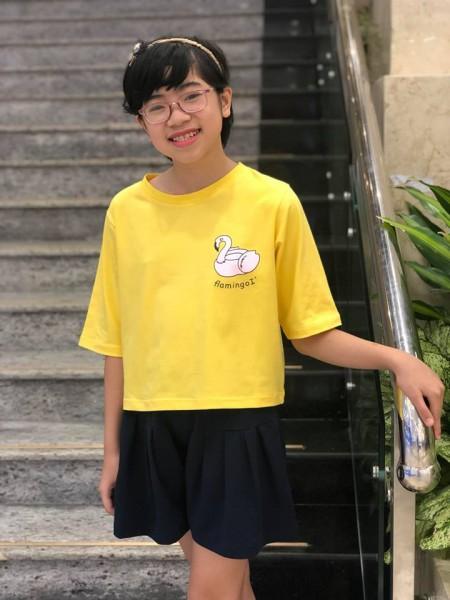 Đồ bộ bé gái thiên nga màu vàng (6-10 tuổi)