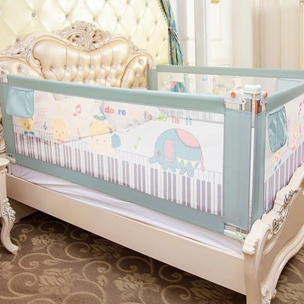 Thanh chắn giường mẫu 2019 cao cấp Babyqiner BQ-02 - 2M - Xanh trượt lên xuống Giá 1 thanh