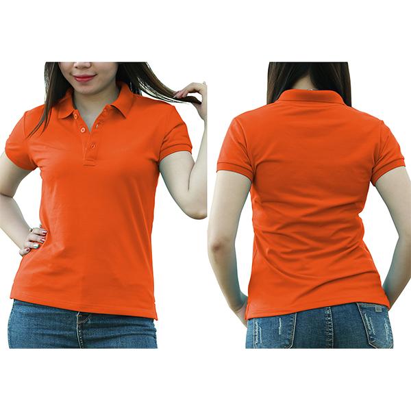 Áo thun cổ trụ - Màu cam đậm