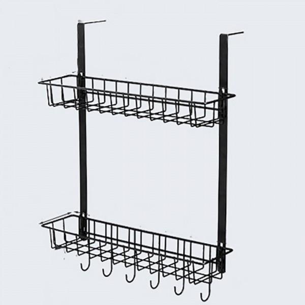 Gía Inox 2 Tầng Treo Cạnh Tủ Lạnh Tủ Bếp B15719-2
