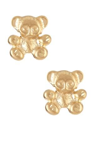 Hoa tai vàng 14k hình gấu con