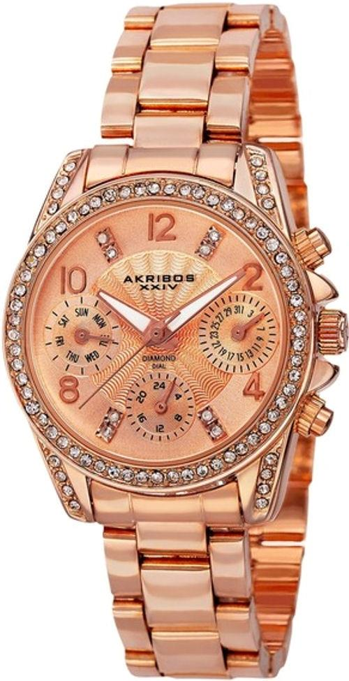 Đồng hồ nữ Akribos XXIV AK710RG Lady Diamond and Crystal-Accented