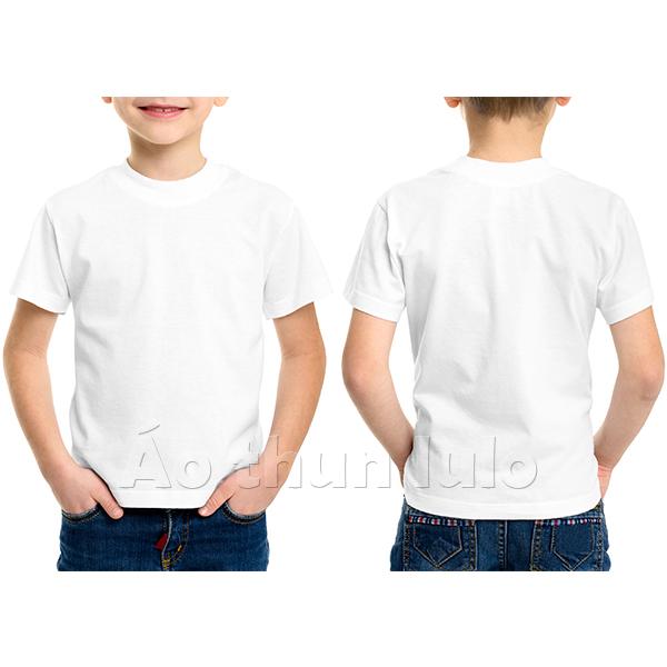 Áo thun cổ tròn trẻ em - Màu trắng