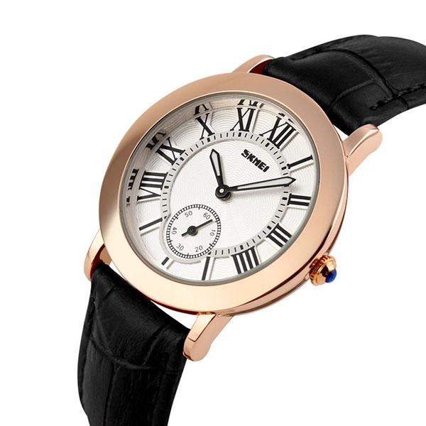 Đồng hồ dây da Skmei 1083 đen
