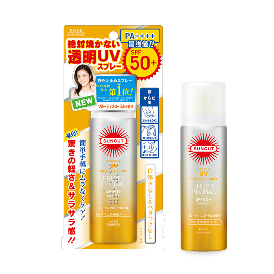 Xịt chống nắng Kose Suncut UV Protect Fruity Floral SPF 50+/PA++++