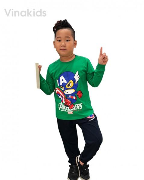 Đồ bộ bé trai siêu nhân Mavel xanh lá (sz 8-12 tuổi )