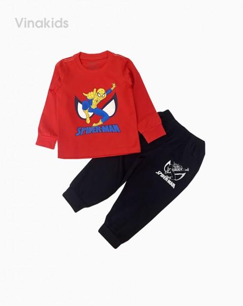 Đồ bộ bé trai dài tay siêu nhân spiderman màu đỏ (sz 1-7 tuổi)