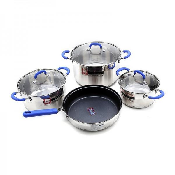 Bộ nồi và chảo Inox Elmich Smartcook SM1497 dùng bếp từ