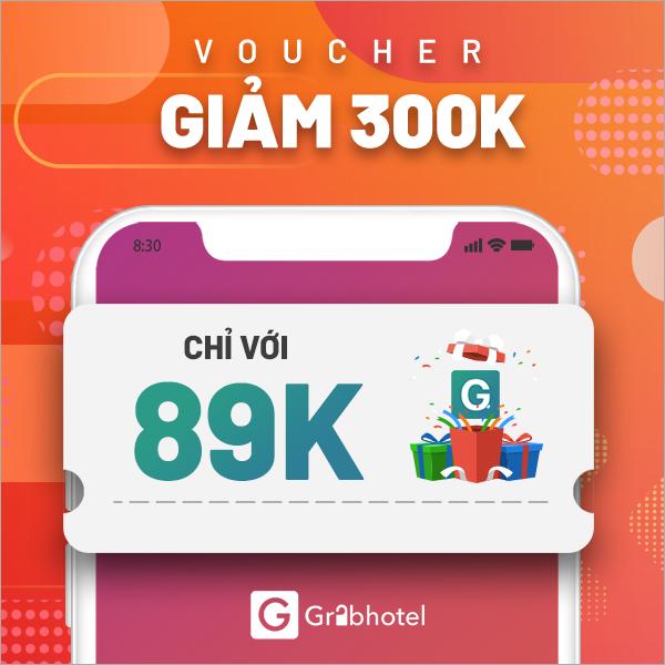 Voucher giảm 300k - GrabHotel