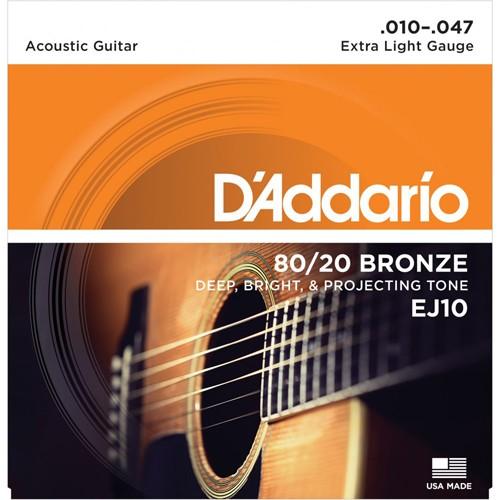 Dây đàn guitar acoustic d'addario EJ10