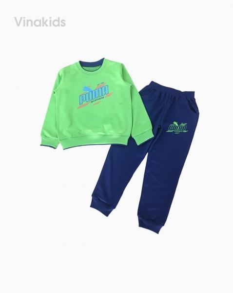 Đồ bộ bé trai thể thao Puma màu xanh (7-12 tuổi)