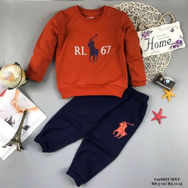 Đồ bộ bé trai dáng thể thao RL67 màu cam (2-8 tuổi)