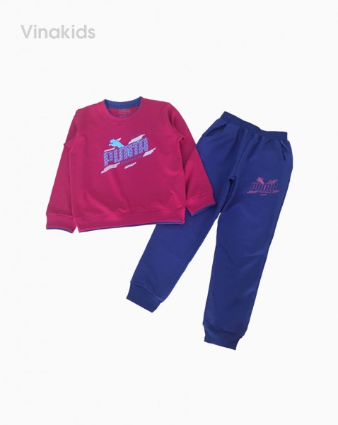 Đồ bộ bé trai thể thao Puma màu đỏ đô (7-12 tuổi)
