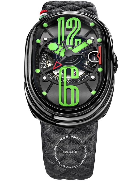 Đồng hồ Grimoldi Limited GTO BK S BK 612 GRN