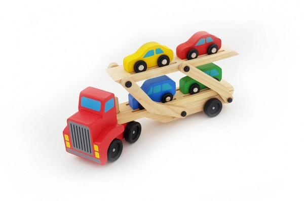 Ôtô romooc + 4 xe con