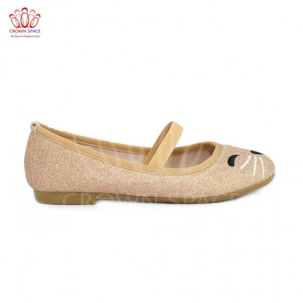 Giày búp bê bé gái Crown UK Basic Ballerina CB3018