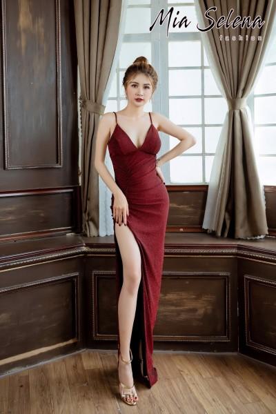 Đầm dạ hội Mia Selena thiết kế trẻ trung tuyệt đẹp (Đỏ đô - nude - xám - Hồng)