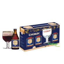 Hộp quà tặng bia Chimay xanh và Ly cao cấp