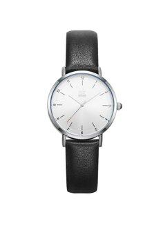 Đồng hồ nam Chính Hãng Shengke Korea K8066G-02(dây da đen)