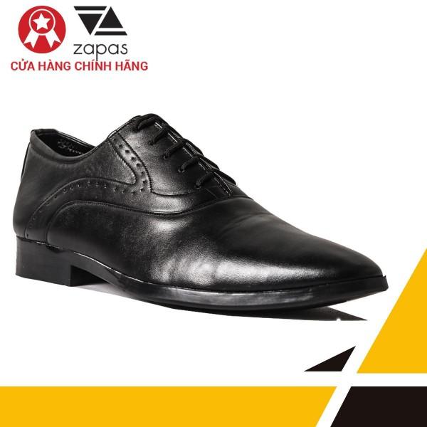 Giày Tây Nam Da Cột Dây Zapas GF001 (Đen)