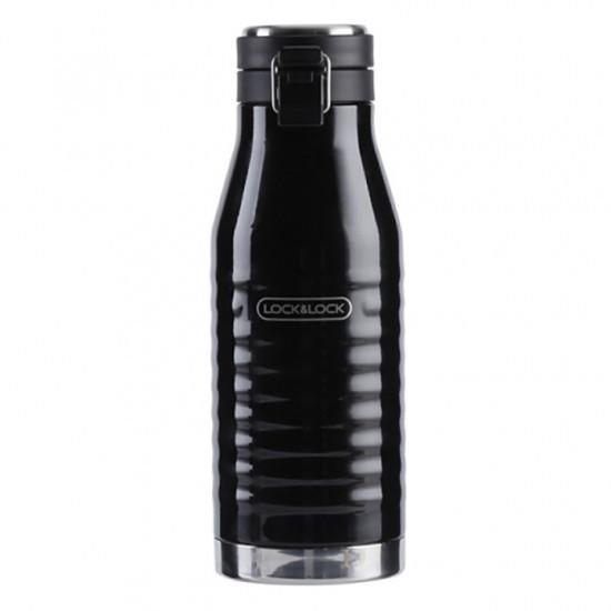 Bình Giữ Nhiệt Lock&Lock Wave Bottle Black 600ml LHC4150BLK