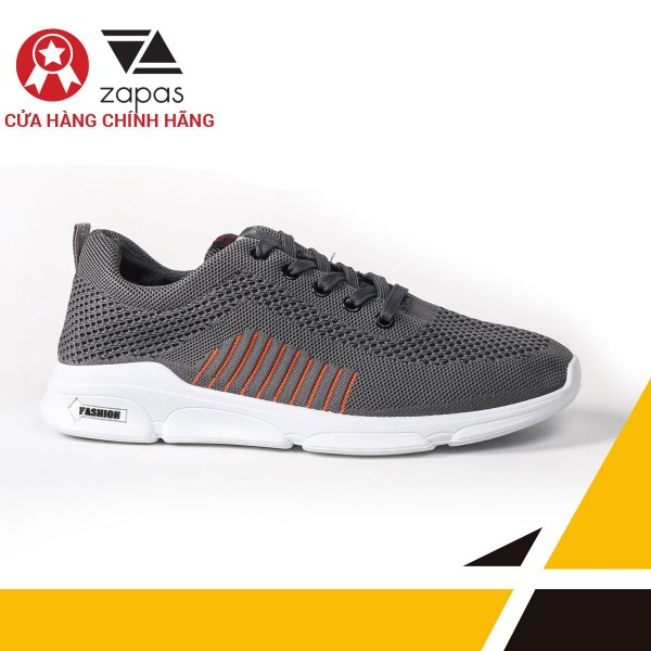 Giày Nam Đẹp Thể Thao Sneaker Thời Trang Zapas - GS105 (Xám )