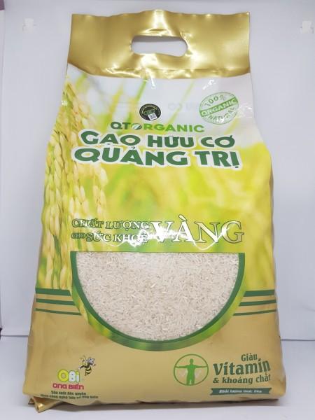 Gạo hữu cơ Quảng Trị QTOrganic chất lượng vàng 5kg