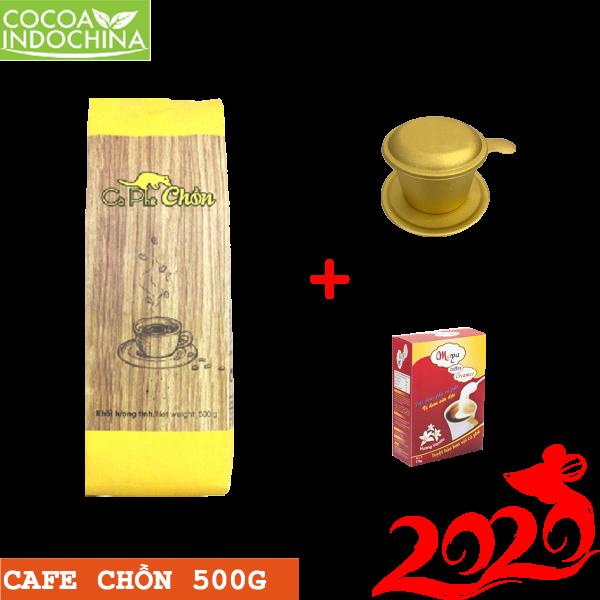 Combo: Cà phê chồn túi 500g + Bột kem pha cà phê + Phin cà phê cao cấp