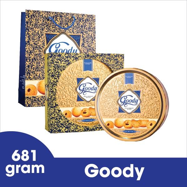 Bánh Goody cao cấp hộp thiếc 681g Bibica