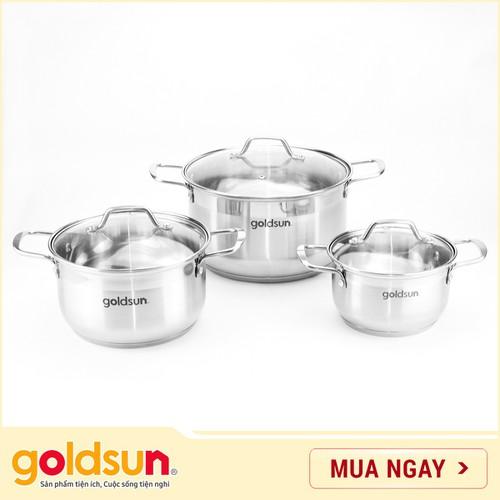 Bộ nồi Inox Goldsun 5 đáy GE41-3506SG