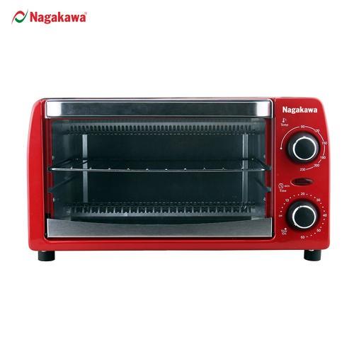 Lò nướng điện đa năng Nagakawa NAG3210 - Công nghệ nướng Halogen - Nhiệt đối xứng - 10 lít - Hàng chính hãng