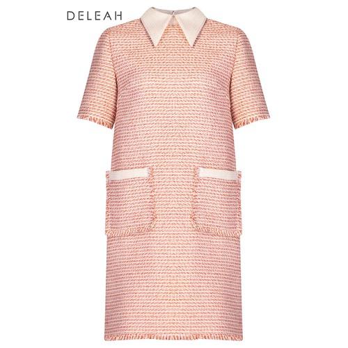 De Leah - Đầm Suông Tweed Pha Cổ - Thời trang thiết kế - VL1820121C