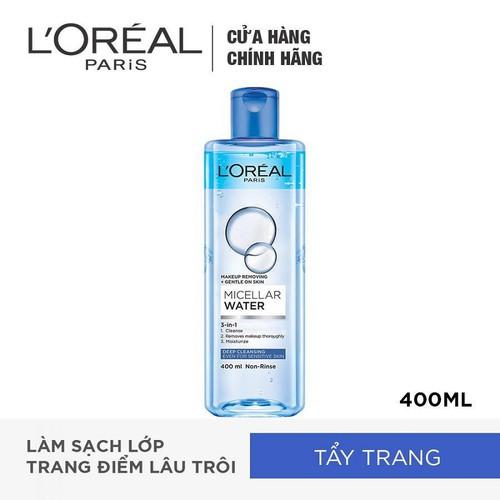 Nước Tẩy Trang 3 In 1 LOreal Paris Micellar Water 400ml - Sạch Sâu - 6902395498919