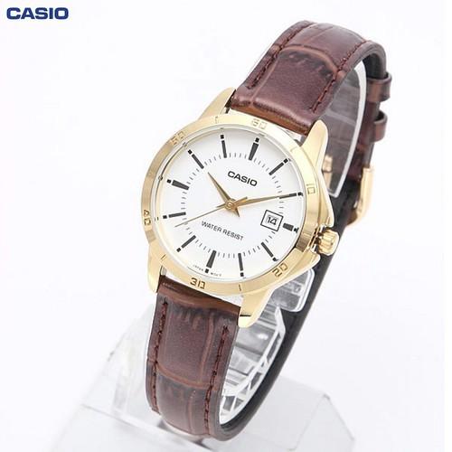 Đồng hồ nữ dây da Casio Anh Khuê LTP-V004GL-7AUDF